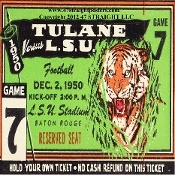LSU Football Gifts made from authentic game tickets! LSU football tickets, LSU drink coasters. http://www.bestcybermondaygifts.com/ Best Cyber Monday Gifts! #47straight