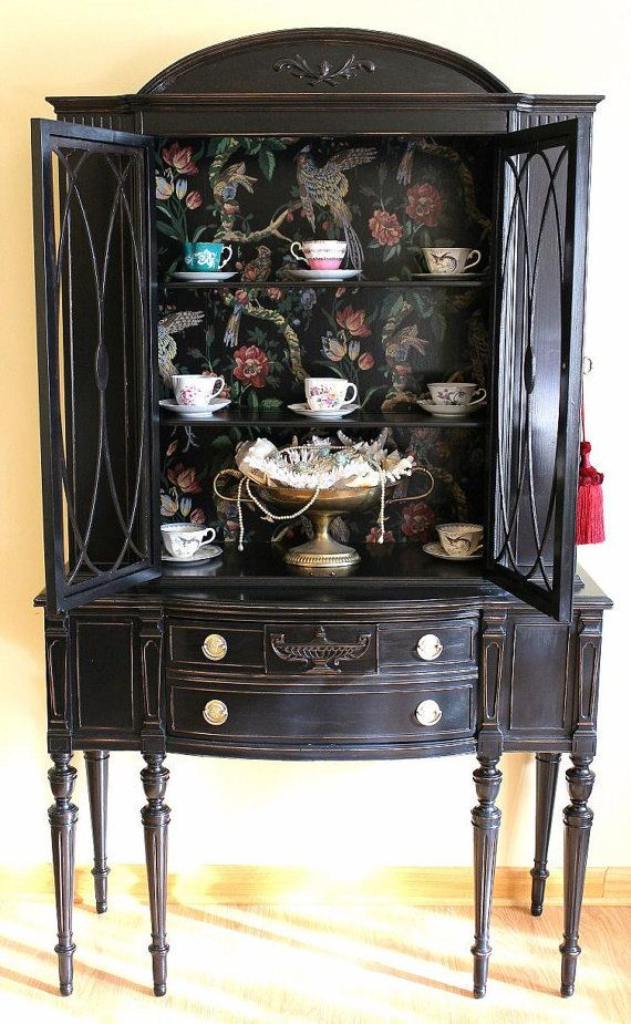 Best 25 Black China Cabinets Ideas On Pinterest China