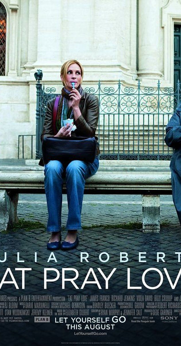 """Directed by Ryan Murphy.  With Julia Roberts, Javier Bardem, Richard Jenkins, Viola Davis. A married woman realizes how unhappy her marriage really is, and that her life needs to go in a different direction. After a painful divorce, she takes off on a round-the-world journey to """"find herself""""."""