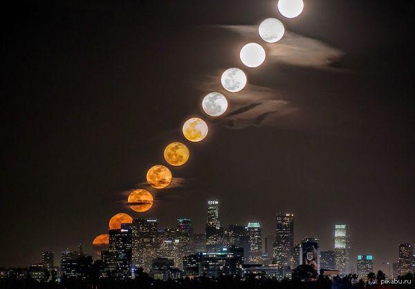 11 фотографий Луны, сделанные за 27 минут 59 секунд Автор фото - Dan Marker-Moore