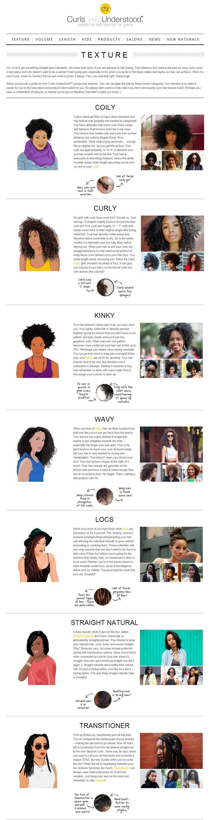 *Understanding natural hair texture!* Learn how to make your hair grow faster @ http://www.shorthaircutsforblackwomen.com/how-to-make-your-hair-grow-faster-longer/