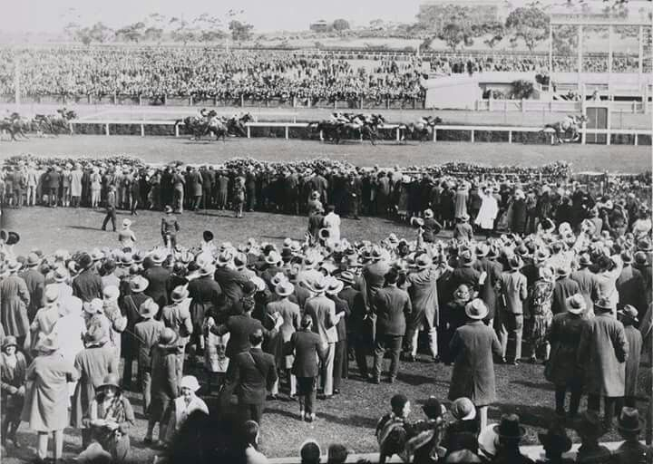 Phar Lap crossing the finishing line during the Melbourne Cup in 1930.