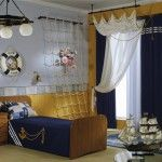 25 Nautical Kid's Room Designs | InteriorHolic.com. I want a climbing net for my boys bunk beds!