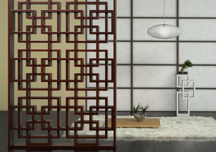 The Novo Quadratum - Room divider in Japanese interor.  www.novoq.eu