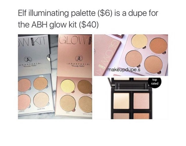 Anastasia Beverly Hills glow kit dupe. | For the quality... ABH is entirely too expensive. Waste of hard earned $$$. It's about the product not the name. Remember that., you'll thank me later ✨