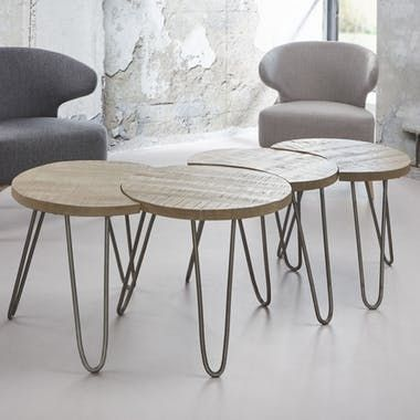 Table Basse Modulable Ronde 4 Pieces Lucknow En 2020 Table