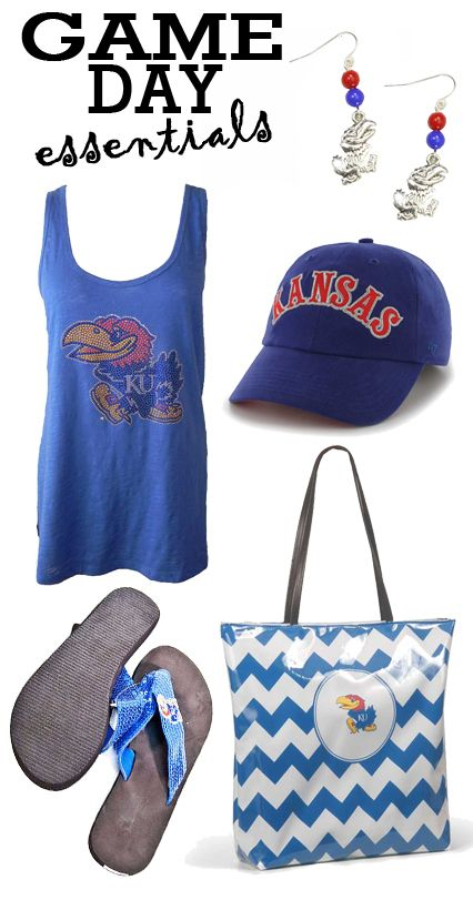 Find all your Game Day essentials at Rally House. Choose from any of our Kansas (KU) Jayhawks shirts and accessories! Check out our women's selection online at http://www.rallyhouse.com/college/kansas-jayhawks?utm_source=pinterest&utm_medium=social&utm_campaign=Pinterest-KUJayhawks