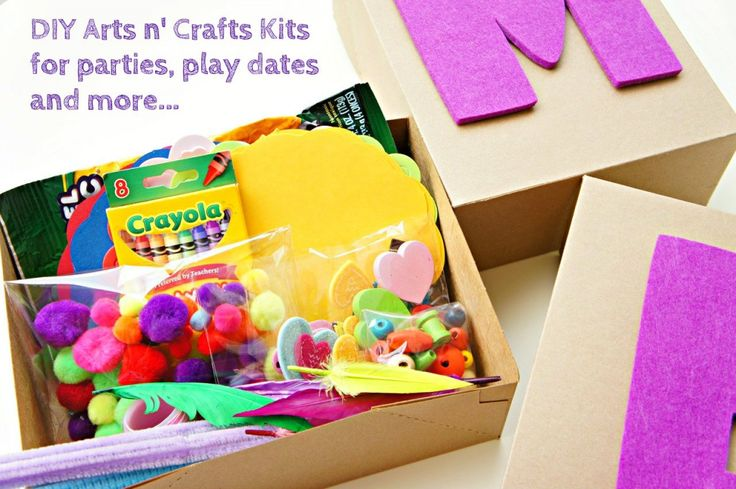DIY Arts and Crafts Kits for toddlers/kids. Great for babysitters, parties, play dates, rainy days and the car.