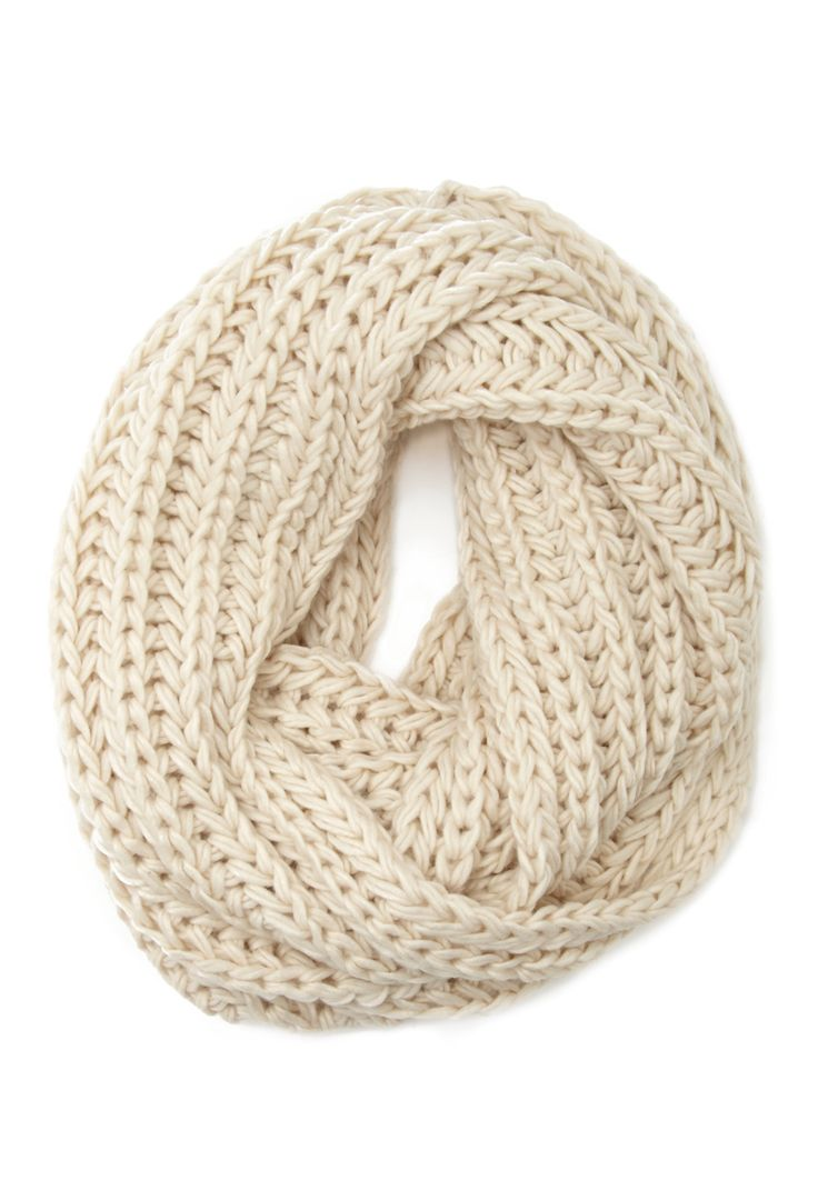 Chunky Knit Infinity Scarf Forever21 1000100115 N E