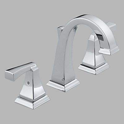 Delta Dryden Double Handle Widespread Bathroom Sink Faucet Crisp Yet Curving Lines Give The An