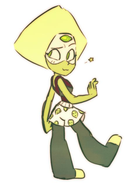 Peridot with boxers Crystal Gem kowskie SU