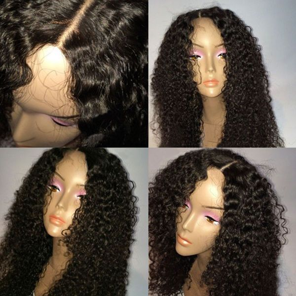 100%Soft Jerry Curly Wave  Brazilian Real Remy  Human Hair Full /Front Lace Wig
