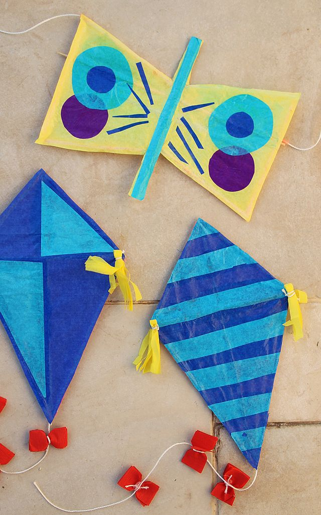 Kite craft with straws butterfly