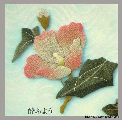 Цветочная аппликация от китайских мастериц (9) (416x411, 83Kb)