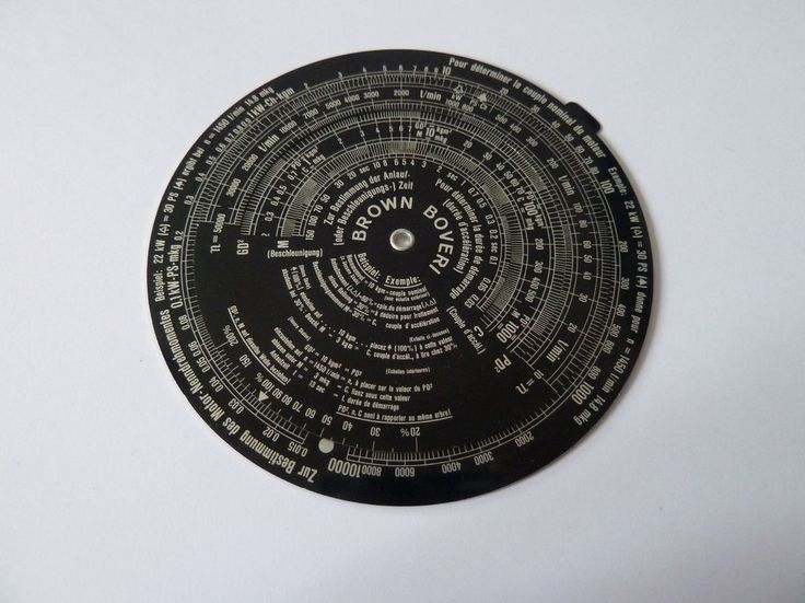 Circular slide rule with scales suitable for use in motor industry. | eBay!