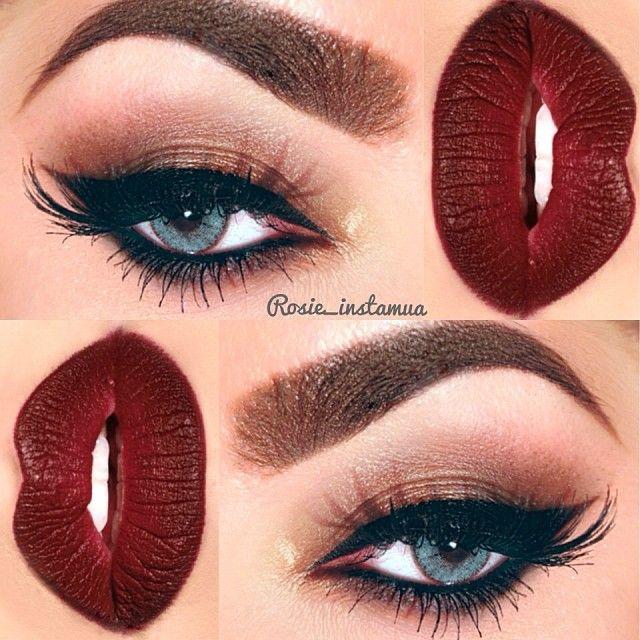 .@rosie_instamua | Full list of eye products in previous post. Lip recipe: @sleekcosmetics Matte...