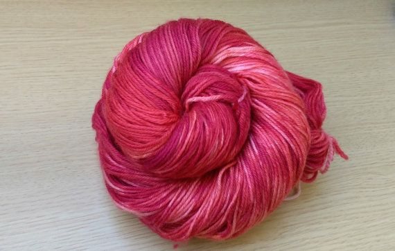 Ready to ship!  Colorway - Peachblood (oxblood red & peach )  4-ply…