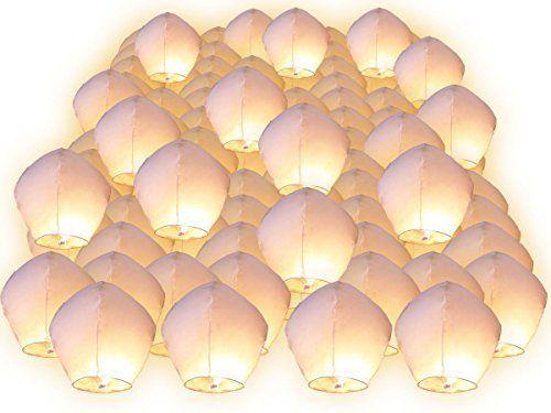 Screl® Lot de Lanternes volantes lampion volant céleste chinoise thailandaise pour fête nationale mariage romantique anniversaire saint…