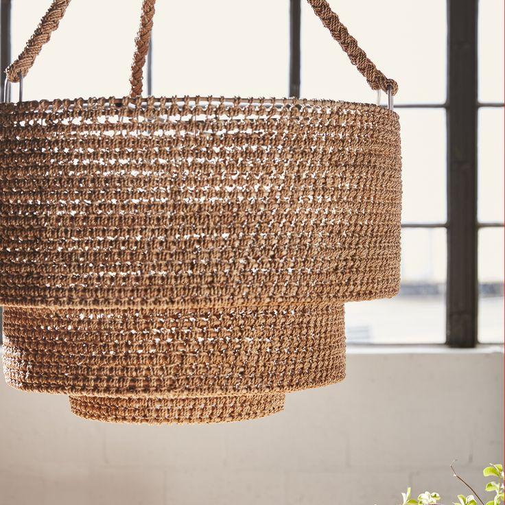 palecek lighting. PALECEK VERANDA WOVEN PENDANT Core Rattan Hand-wrapped With Natural Lampakanai Rope Details And Braided Palecek Lighting