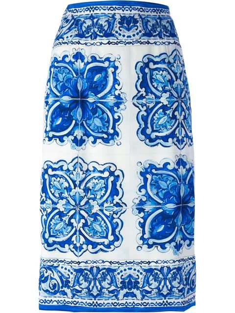 Shop Dolce & Gabbana 'Majolica' midi skirt in Loschi from the world's best independent boutiques at farfetch.com. Shop 300 boutiques at one address.