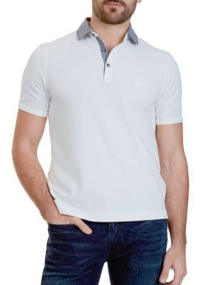 Nautica Marshmallow Classic Fit Stretch Pique Polo Shirt