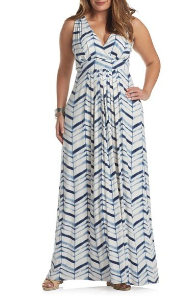 Tart Chloe Empire Waist Maxi Dress (Plus Size) available at #Nordstrom