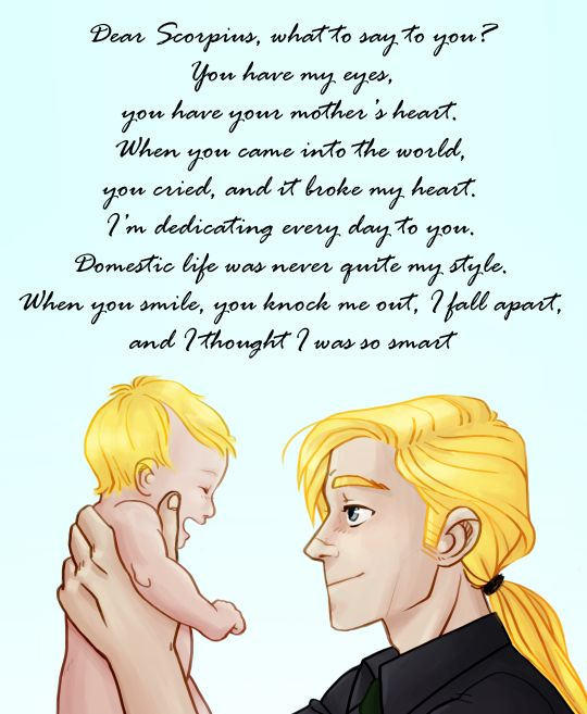 Draco Malfoy and  his son Scorpius