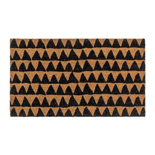 BOESLUM Door mat Black/natural 40x70 cm  - IKEA