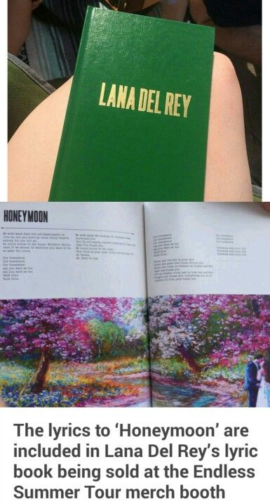 Yay!! It's full of other song lyrics as well!   Lana Del Rey #LDR #Endless_Summer_Tour