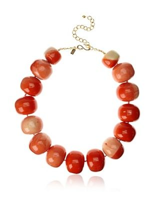 Kenneth Jay Lane Coral Bead Necklace