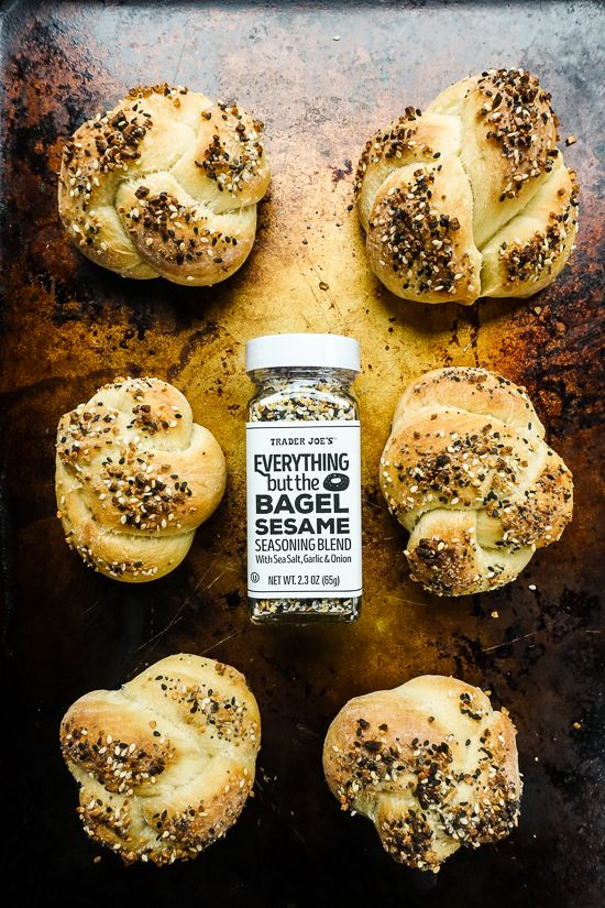 5 Delicious Ways to Use Trader Joe's Everything Bagel Sesame Seasoning, including these Everything Knots!