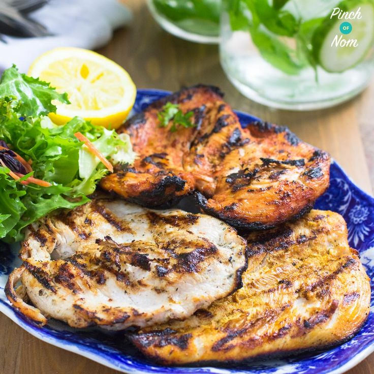 Syn Free BBQ Chicken Steaks (Cajun, Tikka, Garlic & Herb) | Slimming World