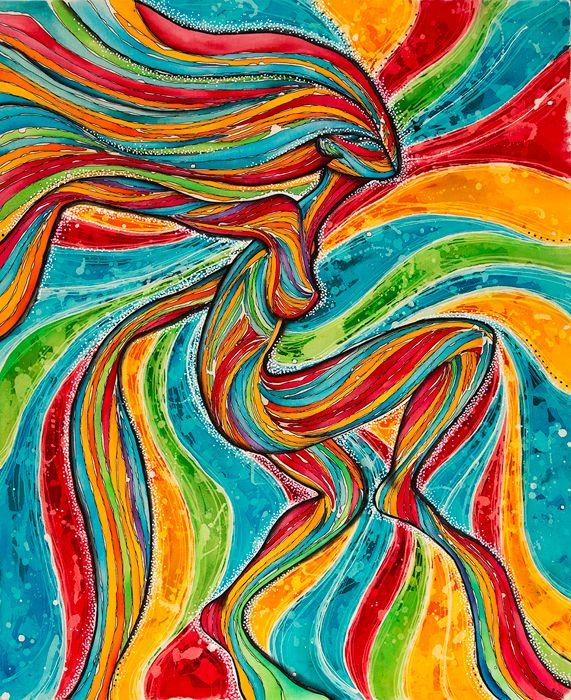 Quot Dans Mon Sang Quot Modern Batik Artist Gabrielle Lasporte