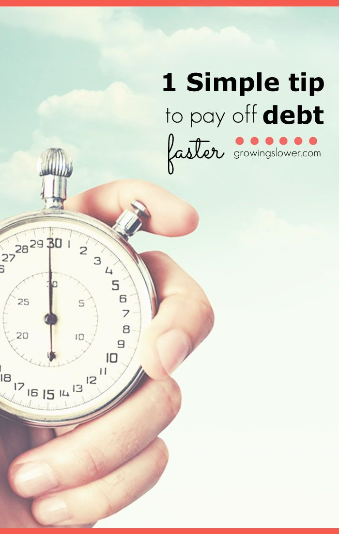 Find out how this one simple tip can help you pay off debt faster. Be debt free months or even years sooner!