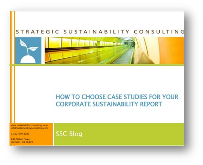 How to Create a Better Corporate Sustainability Report — Strategic Sustainability Consulting