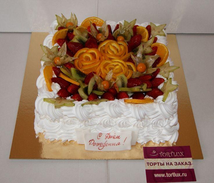 Праздничный торт без мастики.Вес 4 кг. #тортбезмастики#безмастичныйторт#тортсягодами#тортыназаказ#заказатьторт#