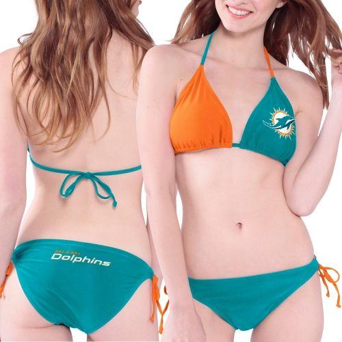 NFL Miami Dolphins Women's Bikini Set - Aqua
