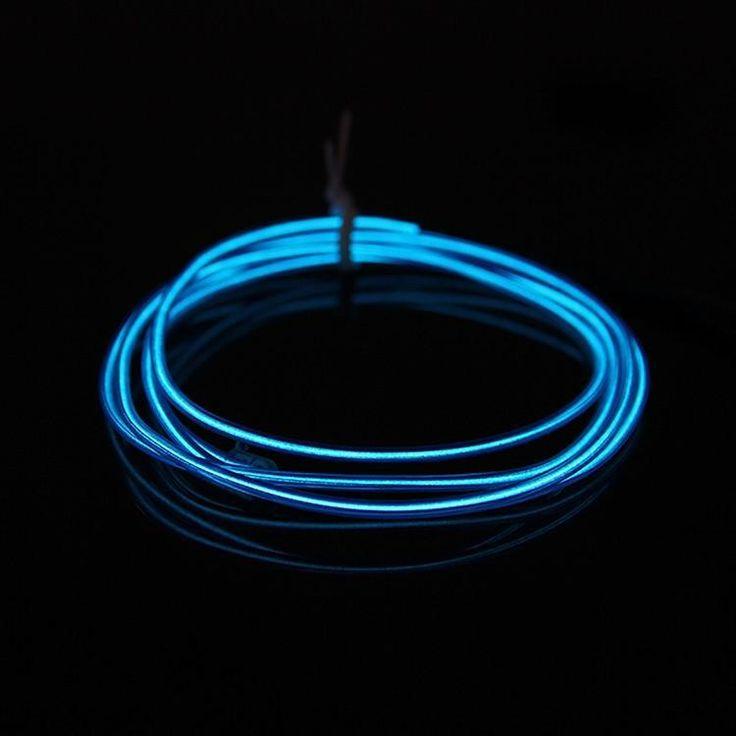 Risultati immagini per DIY Decoration 12V 110V Auto Car Interior LED Wire Rope Tube Neon Light Line