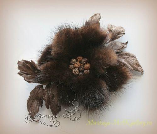"""Цветочная мастерская """"Morskaya–MAK"""" - цветы из ткани, кожи, меха...Авторские работы."""