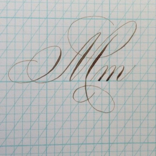 """353 Likes, 25 Comments - Bespoke Strokes Calligraphy (@bespokestrokes) on Instagram: """"The letter M - pretty high on my list of favorite letters in the alphabet, which is a good thing as…"""""""
