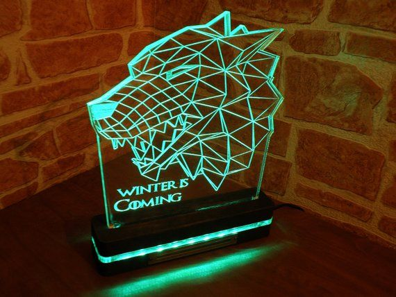 Led Night Light 3d Game Of Thrones Night Light Bedroom Decor Desk Lamp Led Light Acrylic Lamp Led Lamps Table Lamp Modern Lamp 3d Night Light Night Light Lamp