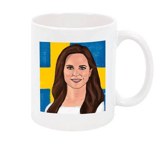 Princess of Madeleine of Sweden illustrated mug