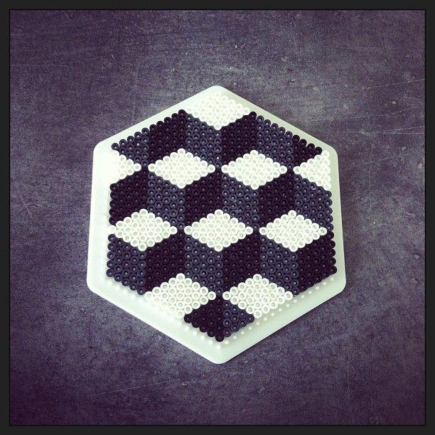 geometric hama perler beads design