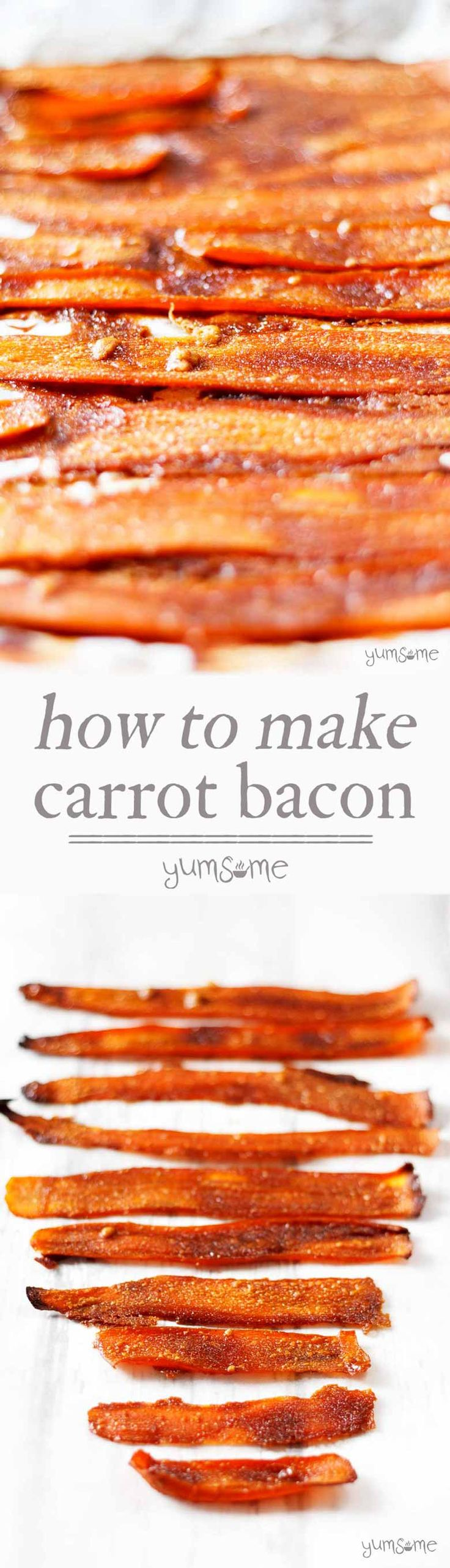 This delicious, easy-to-make vegan bacon substitute is made from carrots and five other store cupboard ingredients.   yumsome.com via @yums0me
