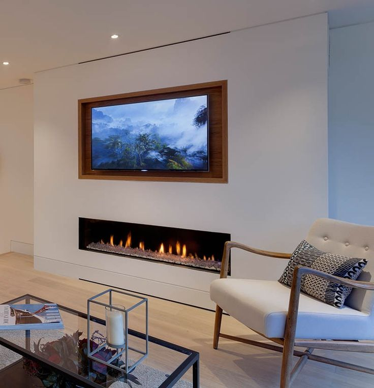 Design Tip U2013 Recess A TV Above A Fireplace
