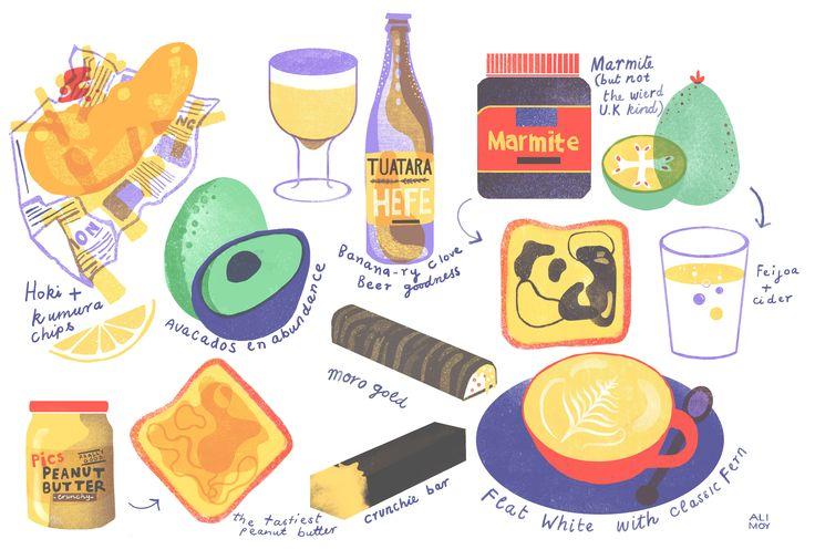 NZ food farewell - Alice Moynihan Illustration & Design