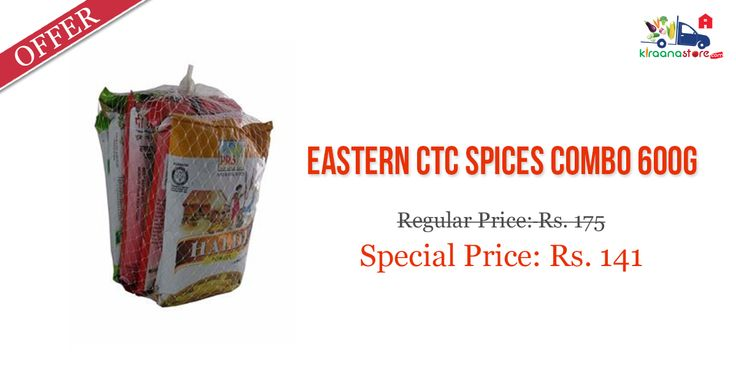 #Eastern CTC #Spices Combo 600GM @ Lowest Price on Kiraanastore. Check out more offers on groceries items.