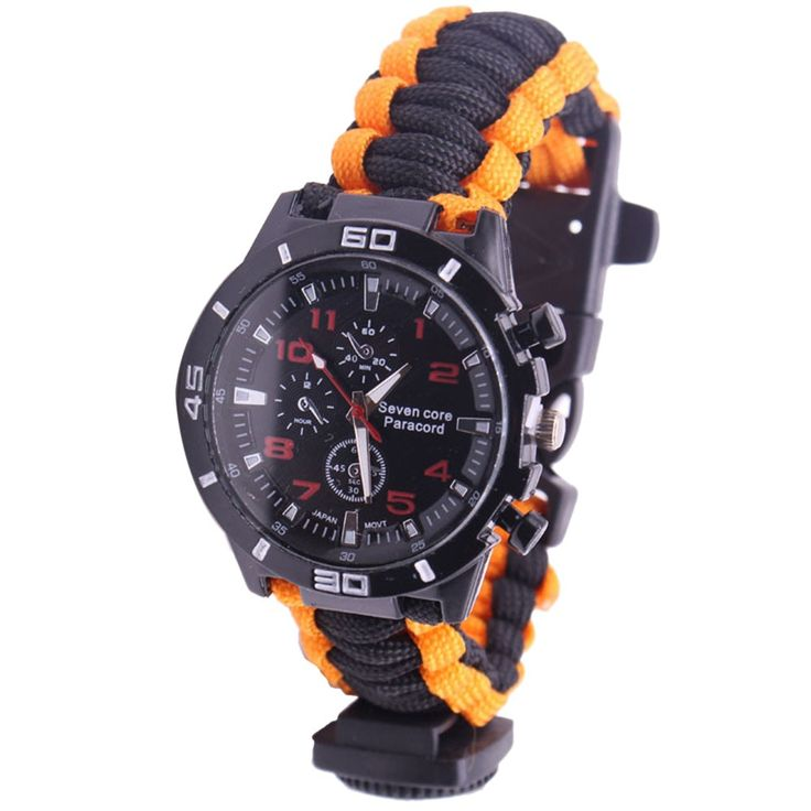 5 in 1 Outdoor Survival Watch Paracord Bracelet with Sales Online #1 - Tomtop.com