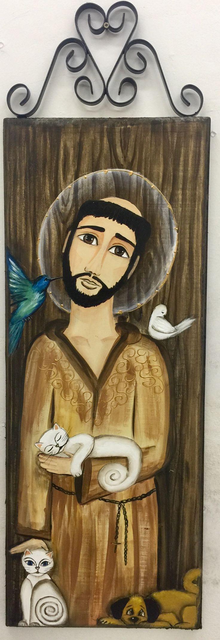 São Francisco pintado em madeira em 06/2017 de Sueli Azevedo