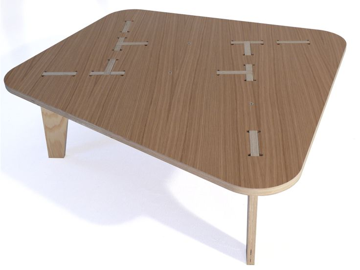 The AtFAB Cat In Bag Ii Table Is A Low, Modern Digitally Fabricated Table  With A Composition Of Intricate Digital Joinery On The Table Surface.